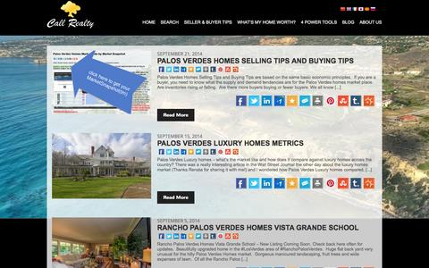 Screenshot of Blog homeispalosverdes.com - Blog - George Fotion - captured Oct. 3, 2014