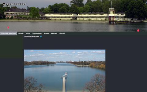 Screenshot of Home Page maschseebad.com - Strandbad Maschsee - M a s c h s e e b a d - captured Oct. 10, 2015