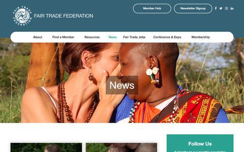 Screenshot of Press Page fairtradefederation.org - News – Fair Trade Federation - captured Oct. 21, 2018