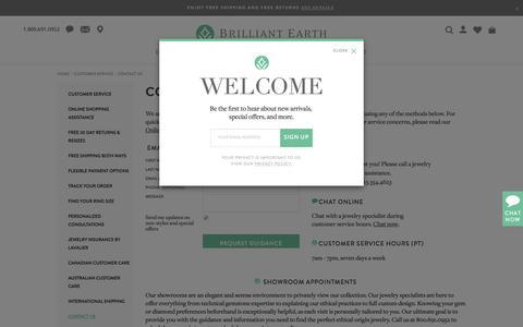 Screenshot of Contact Page brilliantearth.com - Contact Brilliant Earth - captured June 3, 2017