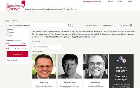 Screenshot of Team Page speakerscorner.co.uk - Leadership Speakers | Speakers Corner - captured June 15, 2017