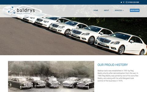 Screenshot of About Page baldrys.co.uk - Baldrys Airport Transfers - captured Dec. 9, 2018