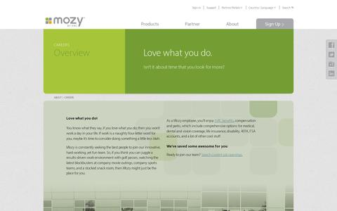 Screenshot of Jobs Page mozy.com - Careers | Mozy - Mozy - captured July 21, 2014