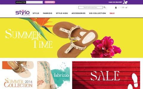 Screenshot of Home Page stylo.com.pk - Buy Ladies Shoes, Heels, Boots and Sandals Online | Stylo Shoes - captured Sept. 1, 2016