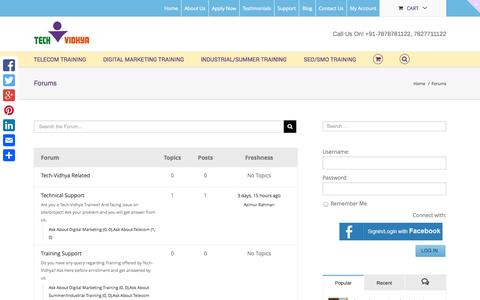 Screenshot of Support Page techvidhya.in - Forums Archive - Tech-Vidhya - captured Oct. 29, 2014