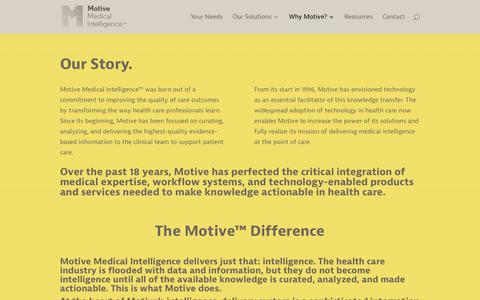 Screenshot of Team Page motivemi.com - Why Motive? | Motive Medical Intelligence - captured Oct. 19, 2018