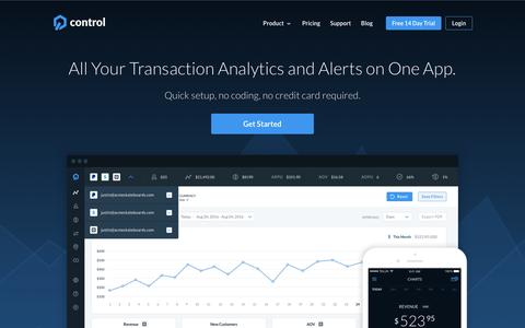 Control | PayPal, Stripe & Square Analytics for SaaS & Commerce