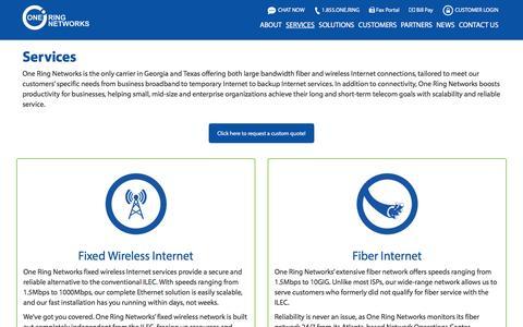 Screenshot of Services Page oneringnetworks.com - Services - One Ring Networks - captured Dec. 6, 2016