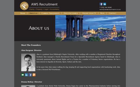 Screenshot of About Page awsrecruitment.co.uk - About us - AWS Recruitment AWS Recruitment - captured Feb. 5, 2016