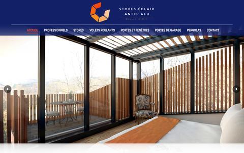 Screenshot of Home Page stores-eclair.com - Stores Eclair - Groupe A.M.E - captured Oct. 16, 2015