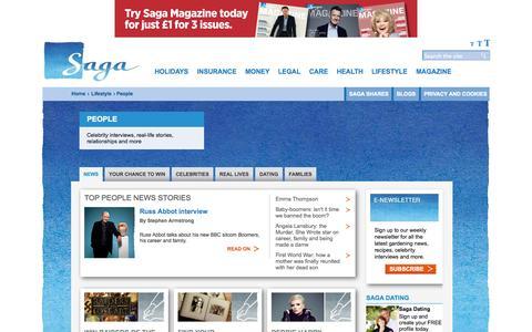 Screenshot of Team Page saga.co.uk - Over 50s Lifestyle   People - Saga - captured Sept. 22, 2014