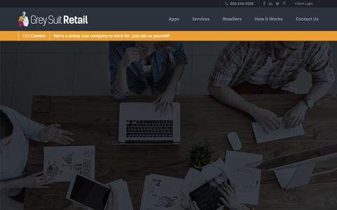 Screenshot of Jobs Page greysuitretail.com - Careers | Grey Suit Retail - captured March 17, 2016