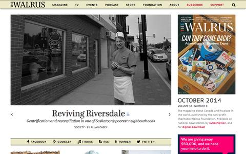 Screenshot of Home Page thewalrus.ca - thewalrus.ca - captured Sept. 19, 2014
