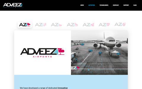 Screenshot of Contact Page adveez.com - Activities - Adveez - captured Nov. 16, 2019