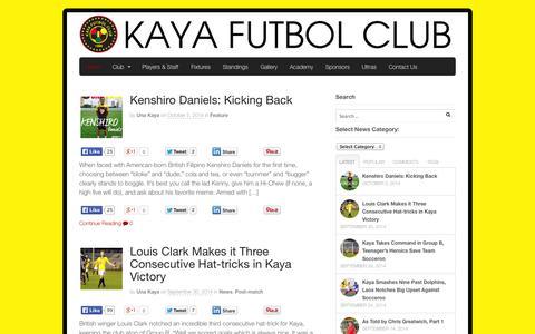 Screenshot of Press Page kayafc.com - News | Kaya Futbol Club - captured Oct. 6, 2014