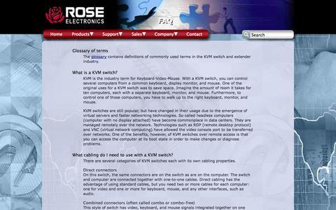 Screenshot of FAQ Page rose.com - Rose Electronics FAQ - captured Oct. 9, 2014