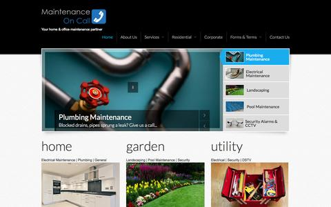 Screenshot of Home Page maintenance-oncall.co.za - Maintenance-OnCall | Your home & office maintenance parttner - captured Jan. 28, 2015
