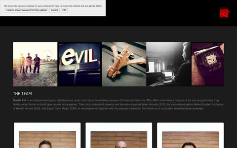 Screenshot of About Page studioevil.com - About — Studio Evil - captured Aug. 2, 2015