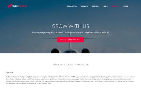 Screenshot of Jobs Page flyeasy.co - Careers – FlyEasy - captured Oct. 10, 2018