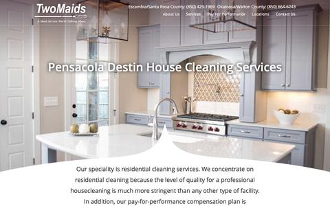 Screenshot of Services Page ineedamaid.com - Pensacola Destin House Cleaning Services - Two Maids & A Mop | Pensacola | Destin Cleaning Services - captured Feb. 16, 2016