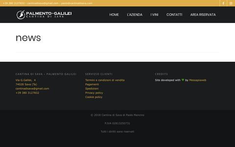 Screenshot of Press Page cantinadisava.com - Cantina di Sava | news - captured July 15, 2018