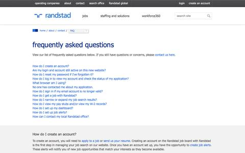 Frequently Asked Questions | Randstad USA