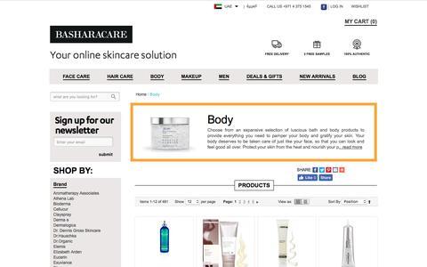 Body Care Products Dubai Abu Dhabi UAE