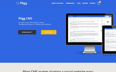 Screenshot of Home Page pligg.com - Pligg CMS - An Open Source, Social Publishing, Content Management System - captured Oct. 1, 2015