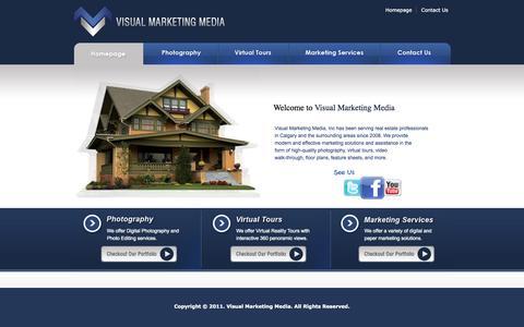 Screenshot of Home Page visualmarketing.ca - .:: Visual Marketing Media ::. - captured Sept. 4, 2015