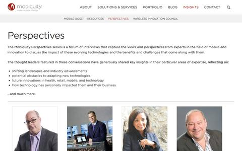 Screenshot of mobiquityinc.com - Perspectives | Mobiquity - captured March 20, 2016