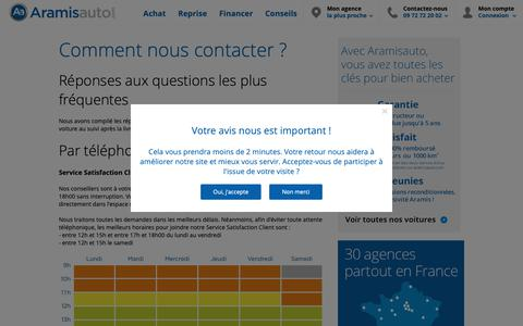 Screenshot of Contact Page aramisauto.com - Contactez-nous - Aramisauto - captured May 19, 2019