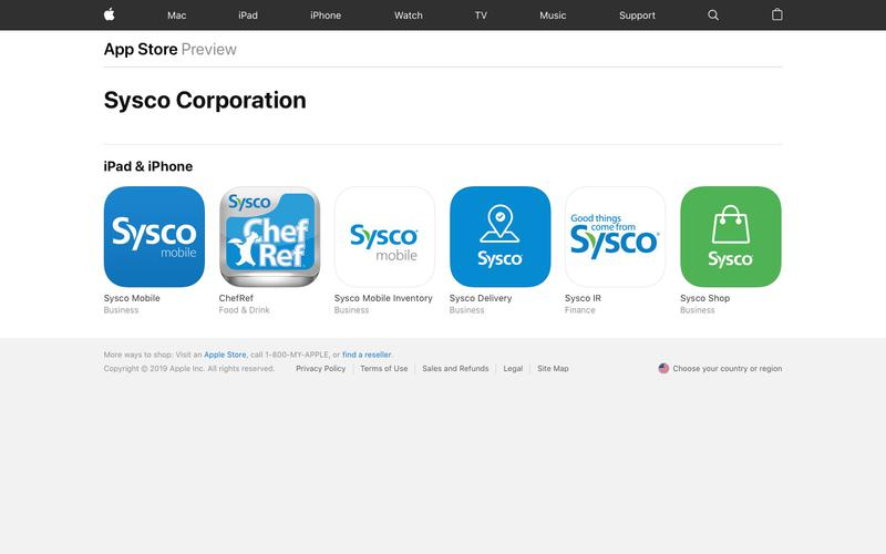 Sysco Corporation   Competitive Intelligence and Insights