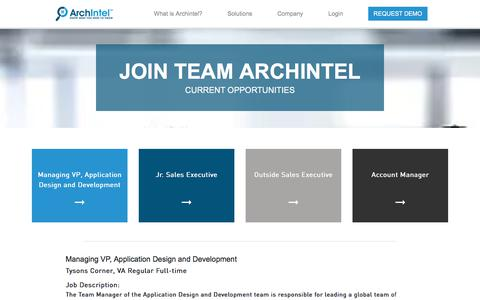Screenshot of Jobs Page archintel.com - Careers  | ArchIntel - captured Sept. 13, 2018