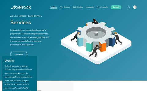 Screenshot of Services Page bellrock.fm - Property and Facilities Management Services | Bellrock - captured Oct. 5, 2018