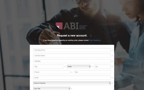 Screenshot of Signup Page abidss.com - Sign Up Page - captured Oct. 2, 2018