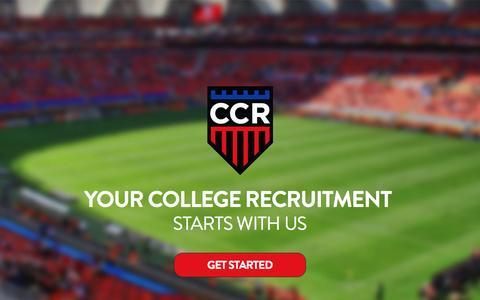 Screenshot of Home Page customcollegerecruiting.com - Custom College Recruiting - captured Nov. 14, 2016