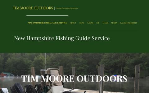 Screenshot of Home Page timmooreoutdoors.com - New Hampshire Fishing Guide Service - Tim Moore Outdoors - captured Sept. 20, 2018