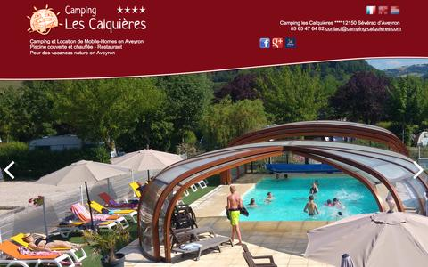 Screenshot of Contact Page camping-aveyron.fr - Camping Aveyron contact  - CAMPING LES CALQUIERES **** - Gorges du Tarn - captured March 23, 2017