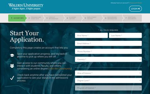 Apply Now | Submit Your Application Online – Walden University