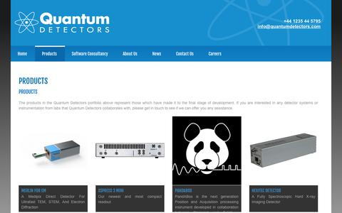 Screenshot of Products Page quantumdetectors.com - Products from Quantum Detectors - captured Oct. 18, 2017