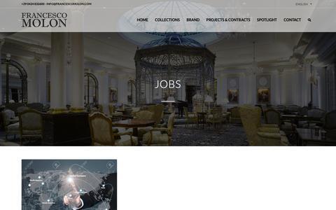 Screenshot of Jobs Page francescomolon.com - Jobs   Francesco Molon - captured Nov. 14, 2018