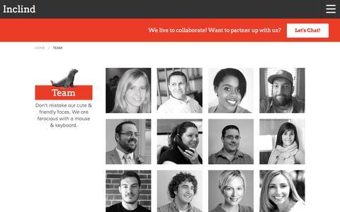 Screenshot of Team Page inclind.com - Drupal Engineers, Front-end and Back-end Developers   Inclind - captured Nov. 26, 2016