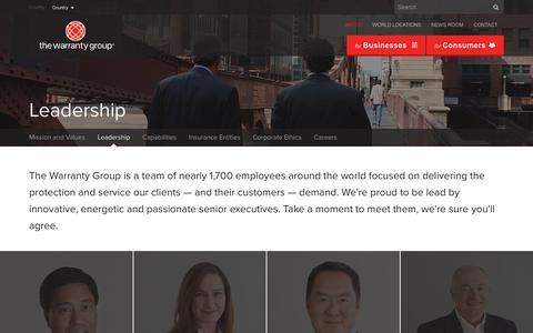 Screenshot of Team Page thewarrantygroup.com - Leadership   The Warranty Group - captured May 28, 2017