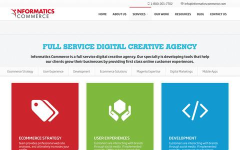 Screenshot of Services Page informaticscommerce.com - Services | Informatics Commerce - captured May 10, 2017