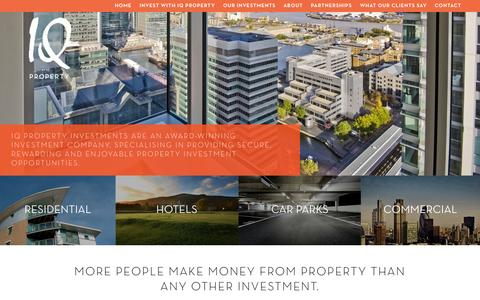 Screenshot of Home Page iqpropertyinvest.co.uk - IQ Property - captured Sept. 16, 2015