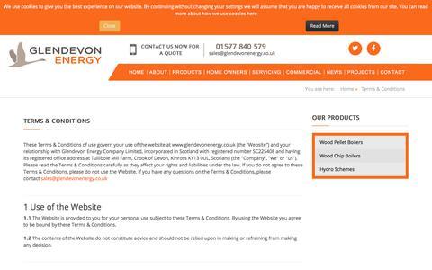 Screenshot of Terms Page glendevonenergy.co.uk - Glendevonenergy - Terms & Conditions - captured July 18, 2018