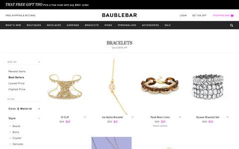 Bracelets   BaubleBar