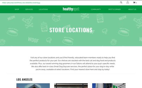 Screenshot of Locations Page healthyspot.com - Find your local Healthy Spot and visit us today! | Healthy Spot - captured Nov. 4, 2018
