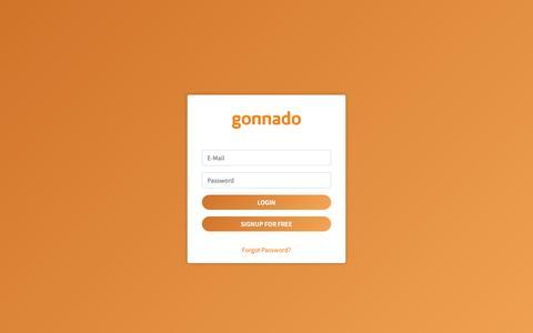 Screenshot of Login Page gonnado.com - Gonnado - Customer Login - captured Sept. 29, 2018