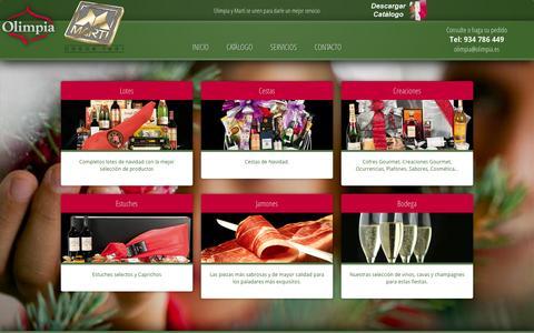 Screenshot of Home Page olimpia.es - Olimpia 2013 ‹ Olimpia y Martí se unen para darle un mejor servicio - captured Oct. 3, 2014